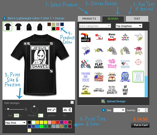 the Squid Shop - Design Your Own Shirt FAQ - Home of the Early ...