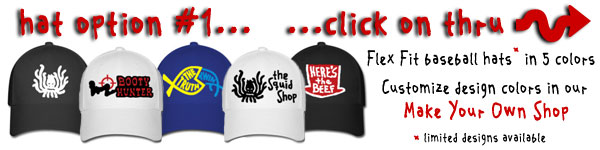Get Squidbillies designs on Flex Fit Baseball Hats!